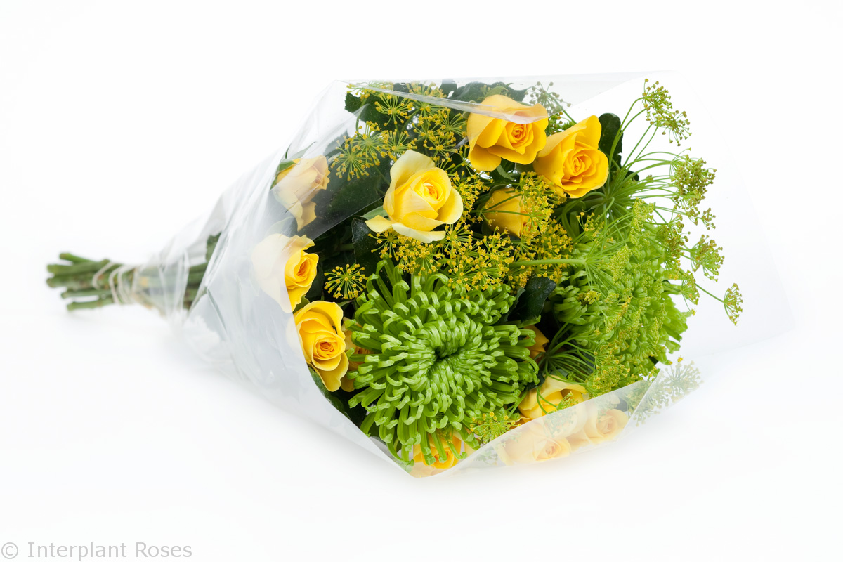 yellow spray rose bouquet