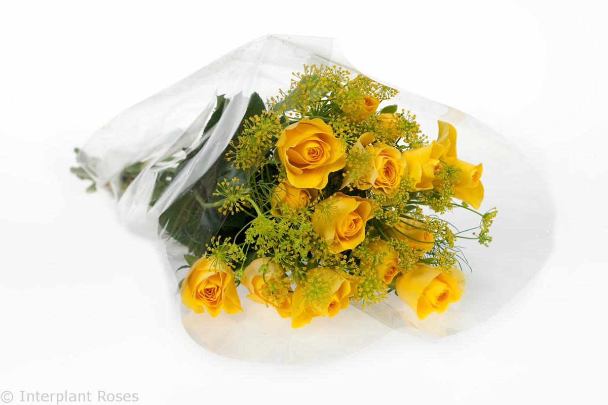 yellow spray rose bouquet