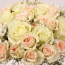 Interplant spray rose arrangement Rosanella Milky Way
