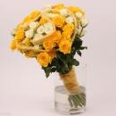 Interplant Arrangement Snowflake, Mariah, Spray Roses