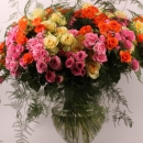 Spray rose arrangement Babe Bandolero Eileen Rowena