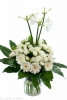 spray rose arrangements white